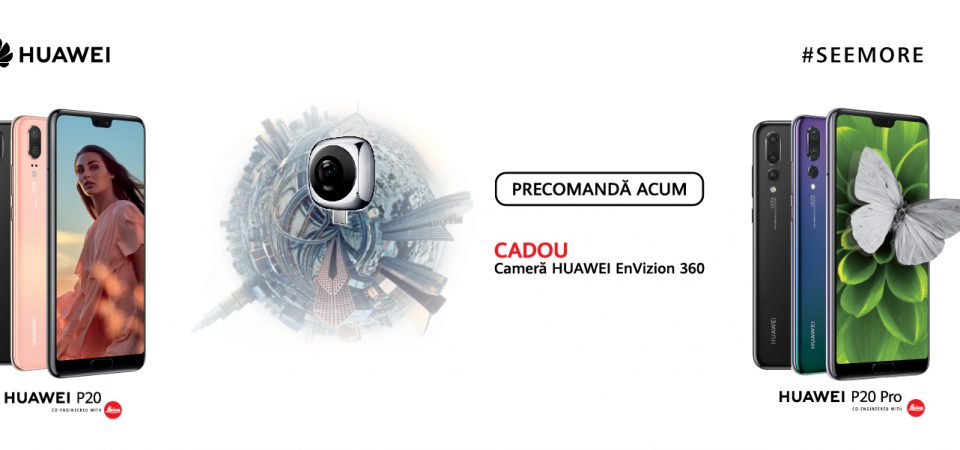 Noile modele Huawei P20 sunt disponibile pentru precomanda la Vodafone Romania