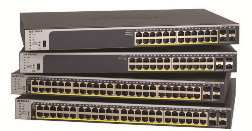 Putere de alimentare și securitate avansată în rețea prin noile switch-uri NETGEAR