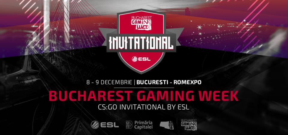 Premii de 50.000 Euro: Bucharest Gaming Week Invitational by ESL aduce în arenă echipe de CS:GO de renume internațional