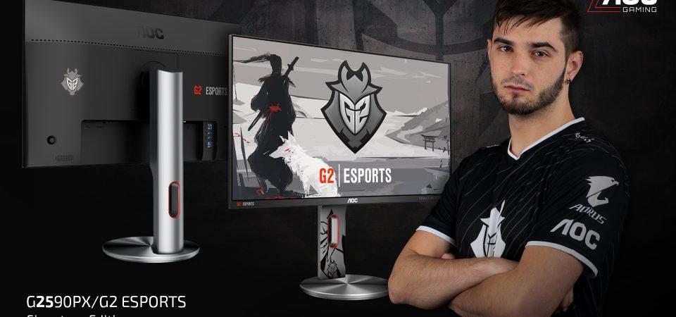 AOC lansează un nou monitor de gaming  în parteneriat cu renumita echipă G2 Esports