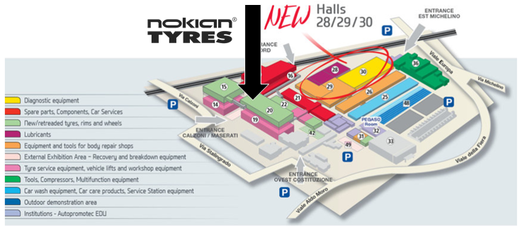 Nokian Tyres te așteaptă la Bologna Trade Fair Center